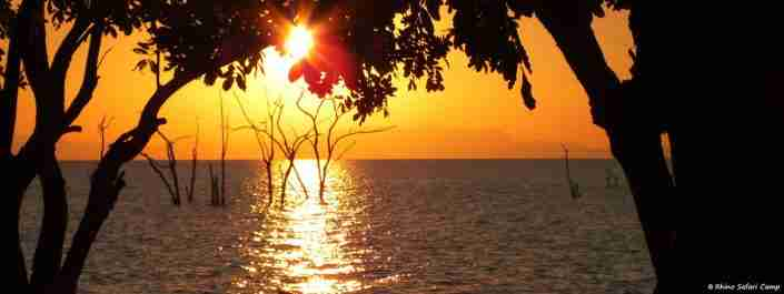 Kariba sunset over the lake Rhino Safari Camp