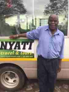 Mr Gombe a driver at Nyati Travel
