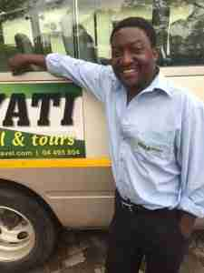 Nyati Travel driver John in Harare