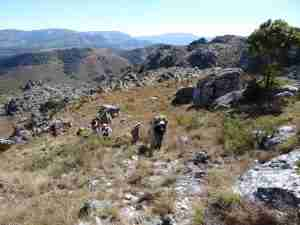 walking in Chimanimani Zimbabwe