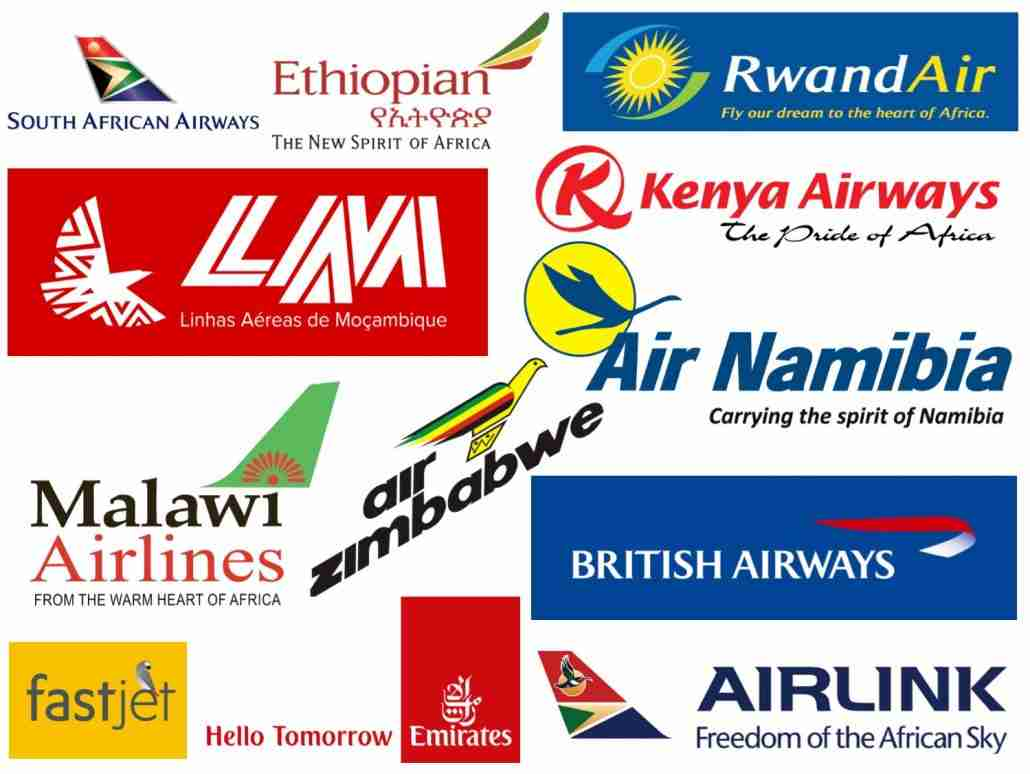 Some of the few foreign airlines currently active in Zimbabwe including Air Zimbabwe