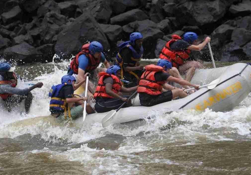 Rafting at Victoria Falls
