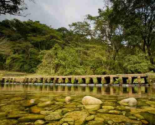 honde bridge over stream