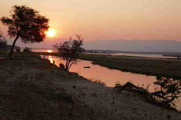 View of Zambezi River Mana Pools, Zimbabwe
