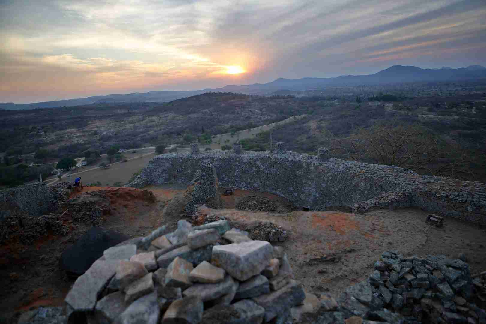great zimbabwe ruins place of the Great zimbabwe, as the site is known, is the largest set of stone ruins in sub-saharan africa—so large and intricate that when europeans first began archaeological investigation, they simply .