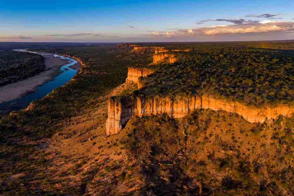 View of Chilojo Cliffs in Gonarezhou National Park, Zimbabwe